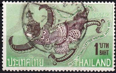 Thajsko 1963 Mi.431, prošla poštou