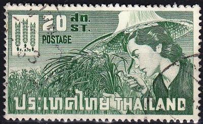 Thajsko 1963 Mi.404, prošla poštou
