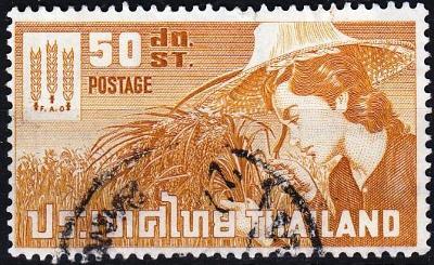 Thajsko 1963 Mi.405, prošla poštou