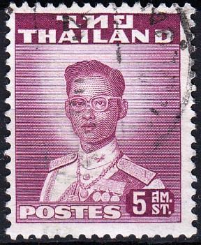 Thajsko 1951 Mi.282, prošla poštou