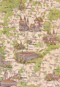 Československo-Telč-Dačice-Slavonice-mapa-památky-VF