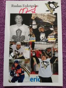 Ruslan Fedotenko-Autogram Hokej