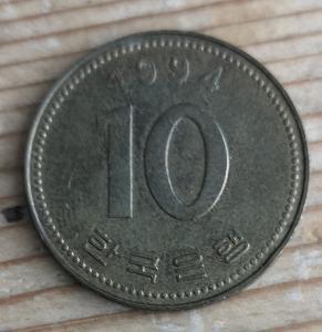 Jižní Korea 10 won 1994