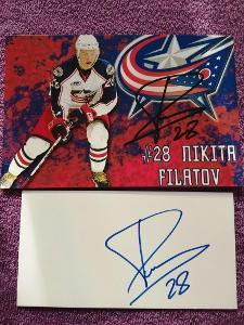 Nikita Filatov-Autogram Hokej