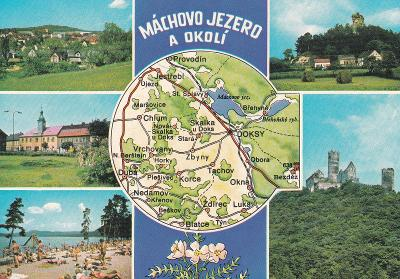 Máchovo j.-Doksy-Jestřebí-Bezděz-pláž Klůček-mapa-VF
