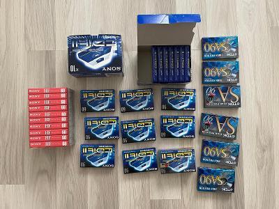 MC Kazety - Nové/použité - směs 78 ks + 6 krabiček