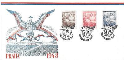 Pamětní obálka Praha Sokol 1948