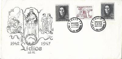 Pamětní obálka Praha 1948 Jan Masaryk Lidice