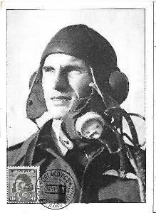 Maximkarta Čelákovice Alois Vašátko letec armáda
