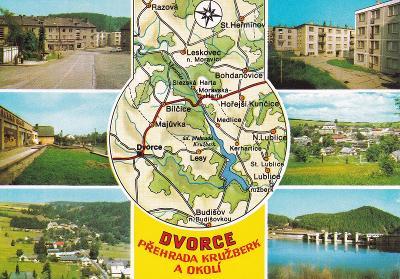 Kružberk-Dvorce-Leskovec n.M.-Budišov n.Budišovkou-mapa-VF