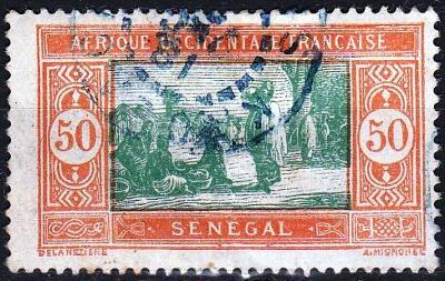 Senegal 1926 Mi.82 prošla poštou