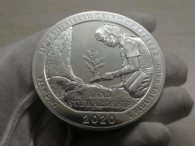 5 oz Marsh Billings Rockefeller 2020, Vermont, 5 oz = 155,5g 999 Ag
