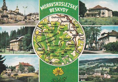 Beskydy-Jablunkov-Lomná-Bílý Kříž-Mosty u Jabl.-oživená-mapa-VF