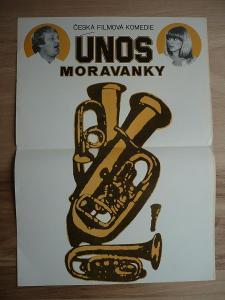Únos Moravanky (filmový plakát, film ČSSR 1982, režie