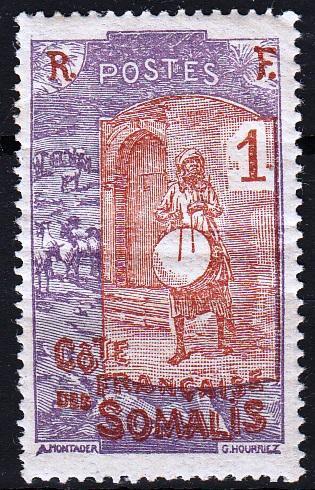 Francouzské Somálsko 1915 Mi. 82, MH *