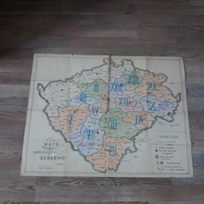 Mapa království českého 1918