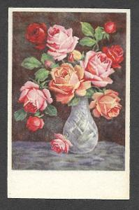 Květiny, růže , ca 1910