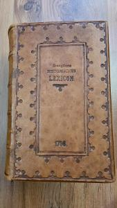 Vzácný historický lexikon z roku 1756 - v kůži!