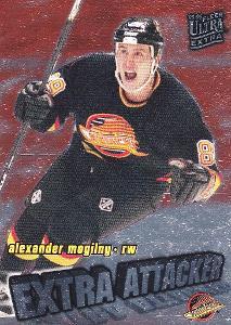 MOGILNY Alexander Fleer Ultra 1995/96 Extra Attacker č. 15 Vancouver