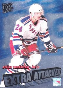SUNDSTROM Niklas Fleer Ultra 1995/96 Extra Attacker č. 18 New York