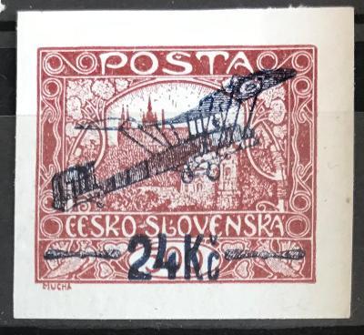 ČSRI- 1920 - L2 24kč/500h nezoubkovaná - pěkný široký střih/ zk.
