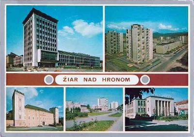 Žiar nad Hronom (budova ONV-výstavba-škola-závodní klub Z SNP)