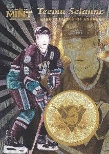 SELANNE Teemu Pinnacle Mint 1996/97 č. 13 GOLD Anaheim