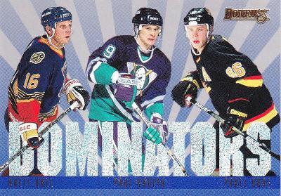 HULL KARIYA BURE Donruss 1995/96 Dominators č. 6 1829/5000