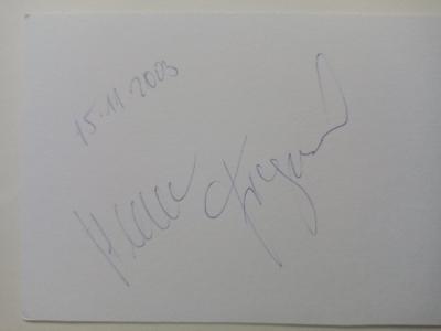 Autogram Helena FIBINGEROVÁ atletka vrh koulí