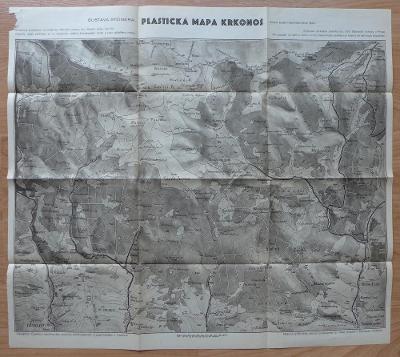 Krkonoše, Riesengebirge, plastická mapa Gustava Steinera, cca 1920