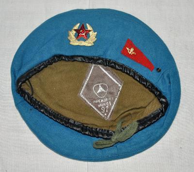 047. Modrý výsadkářský baret, Rusko, VDV