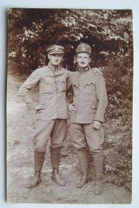 Fotopohlednice - první republika - voják RČS