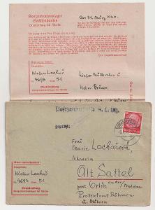 Německo, Koncentrační tábor Sachsenhausen, předtištěná obálka + obsah