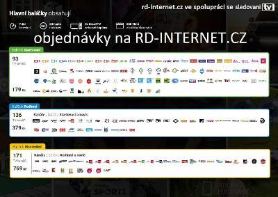 93 TV kanálů online IPTV televize 179Kč měsíčně podporujeme Smart TV