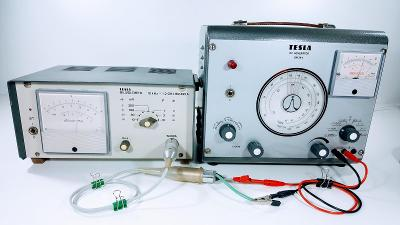 TESLA BRNO BM 495 A - DIODOVÝ MILIVOLTMETR 10kHz až 1,2 GHz. FUNKČNÍ !