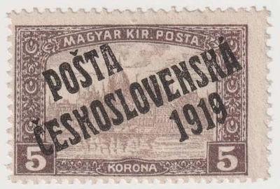 ČSR I., PČ 1919, 5 K Parlament, oblíbená známka, plná záruka pravosti