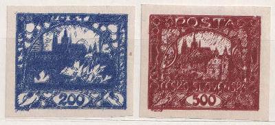 ČSR I., 200 a 500h Hradčany, dvojité tisky, oblíbené, katalog Pofis