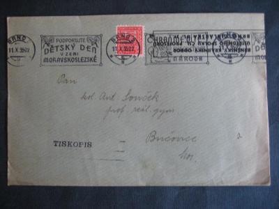 ČSR I obálka známka,razítko od korunky