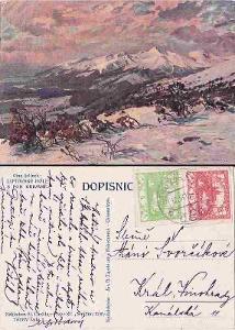 Liptovské Hole s pod Krivaně, reprodukce Cína Jelínek -1919