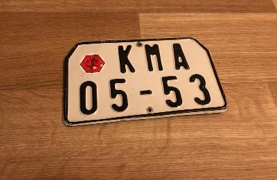 Stará spz KMA motocyklová