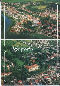 Napajedla (Zlín), zámek a město, letecký