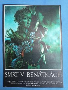 Filmový plakát A3 - Smrt v Benátkách, autor Laštovka