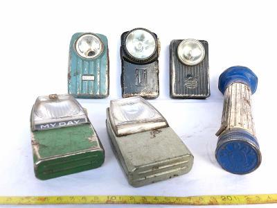 Konvolut - staré baterky/svítidla - MY DAY, DIAMON, FLIM