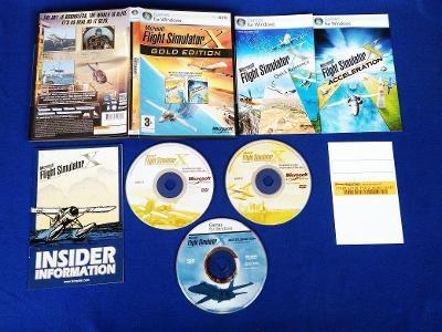 PC - Microsoft FLIGHT SIMULATOR X GOLD EDITION (retro 2008) Top