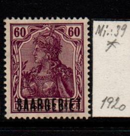 Německo-Sarre 1920 Mi. 39*