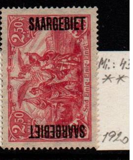 Německo-Sarre 1920 Mi. 43**
