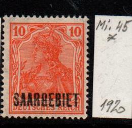 Německo-Sarre 1920 Mi. 45*