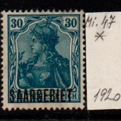 Německo-Sarre 1920 Mi. 47*