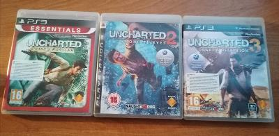 UNCHARTED 1,2,3, hry PS3