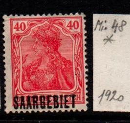 Německo-Sarre 1920 Mi. 48*